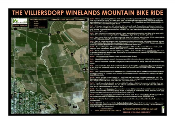 Villiersdorp Winelands Mountain Bike Route
